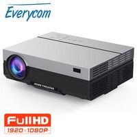 Everycom проектор Full HD 1920x1080 P T26K проектор Портативный 5500 люмен HDMI проектор видеопроектор светодиодный домашний театральный фильм
