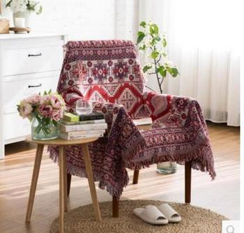 Bohemian 100% cotton thread blanket geometric Kilim carpet thicken sofa towel decorative chair cover throw bed cover home decor