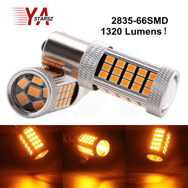 Car led 1pcs 1156 BA15S P21W 66 led 2835 smd Car Tail Bulb Brake Lights auto Reverse Lamp Daytime Running Light red white yellow zewa everyday 100