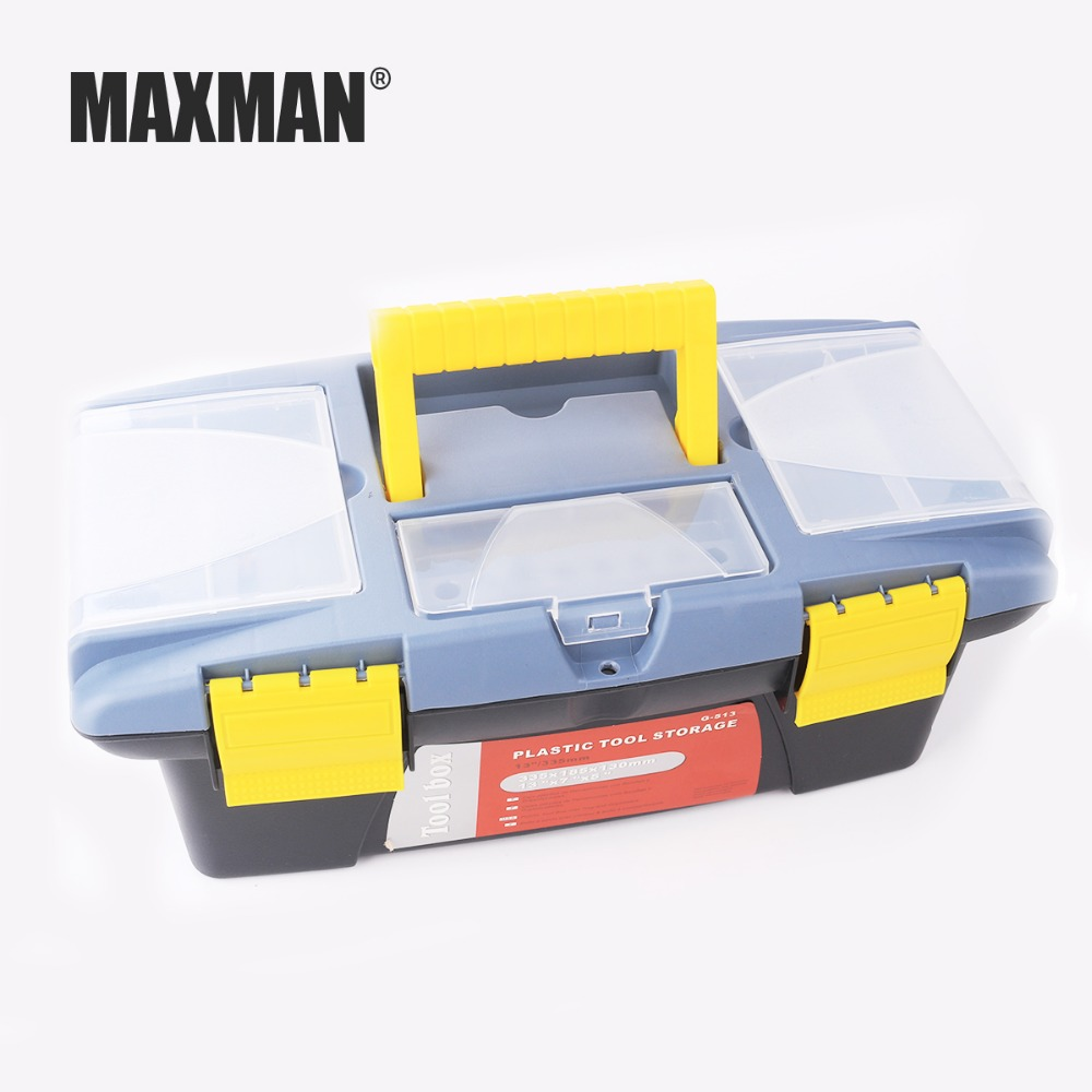 MAXMAN Plastic Tool Box Tool Case Storage Organizer Kit Set Protecting Tool toolbox 13*28*18.5CM for Grinder Drill laoa colorful folded tool box work box foldable toolbox medicine cabinet manicure kit workbin for storage