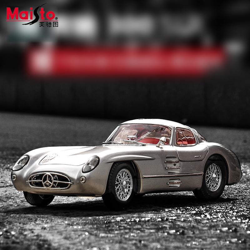ФОТО Maisto Mercedes-Benz 300SLR 1:18 Scale Cars Model Alloy Toys Diecasts & Toy Vehicles Collection For Children Christmas Gifts