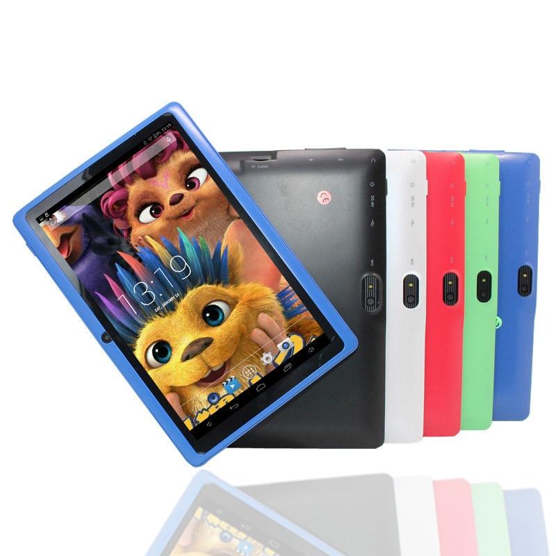 7-дюймовый Android 4,4 4 GB Allwinner A33 фонарик Q88 дешевый Дети tablet pc Quad core Bluetooth Wi-Fi 1024x600