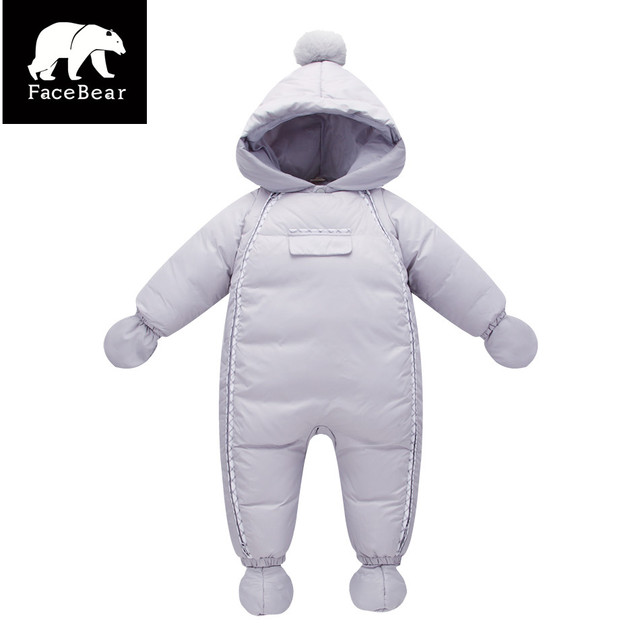 Warm winter  2017 infant boys girls snowsuit Newborn white duck down Winter clothing bebes jumpsuits infant baby winter clothes