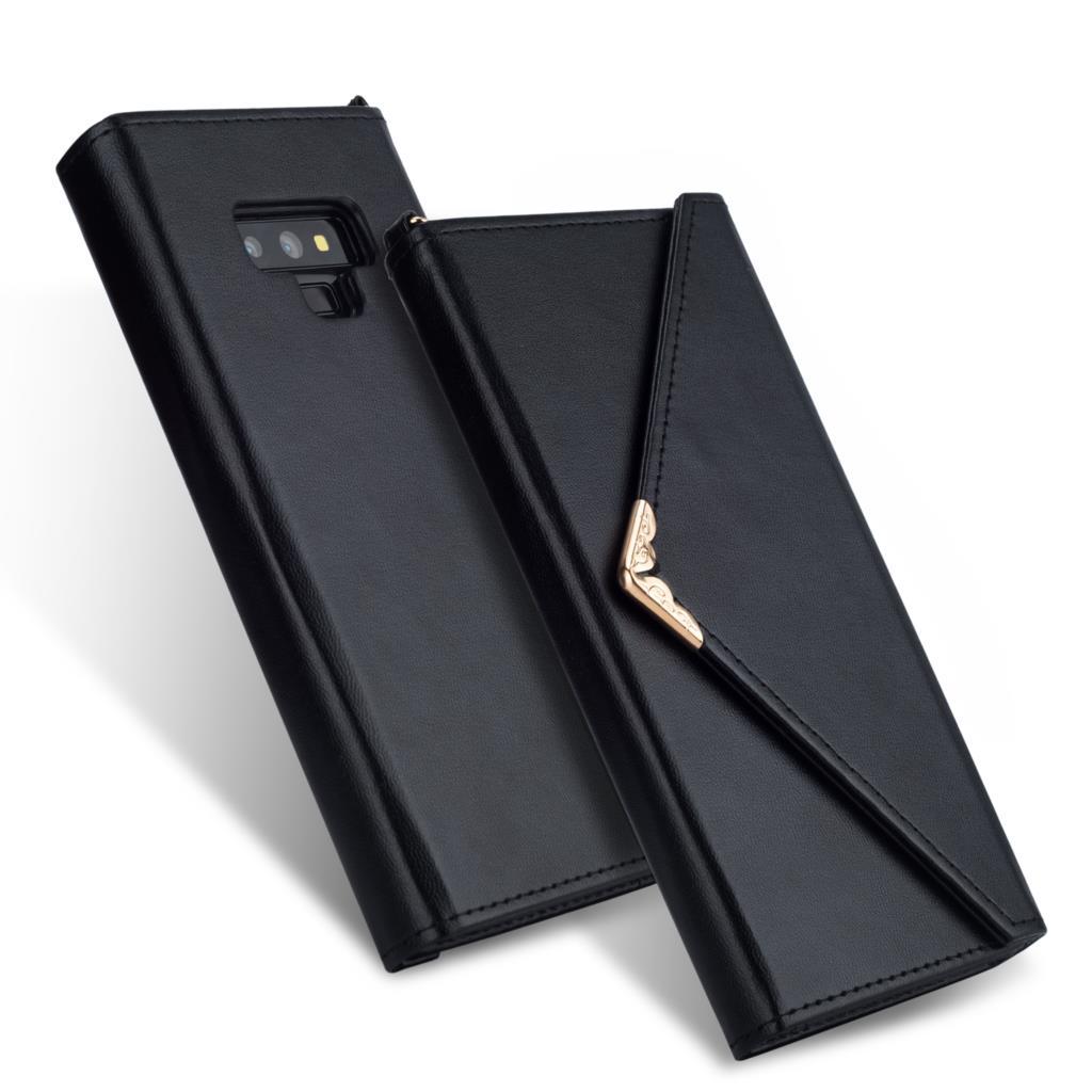 Retro flip couro envelope design caso para samsung nota 10 plus 9 8 s9 s8 s10 plus carteira titular do cartão capa para samsung galaxy s7 borda telefone caso fundas