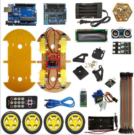 Multifonction Bluetooth Contrôlée Robot Intelligent Kits Auto uno