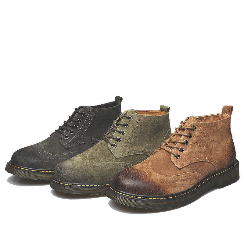 Hommes Velvet Bottes Dark Taille Grande Pop yellow Marque Hiver Designer Vente green Plus Véritable Casual Velvet Mxz8218128 green Chaussons Cuir Brown prUqOpW