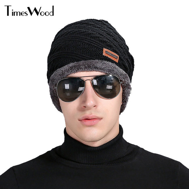 Cool For Men Warm Hats Beanie Hat 2017 Winter Cotton Knitting Hat for  Unisex Caps Beanie be7b871849a