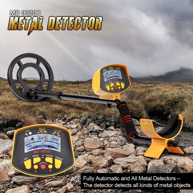 Professional Metal Detector Underground MD9020C Gold Digger kit all Treasure md 9020C Hunter detecting Finder Scanner Long Range