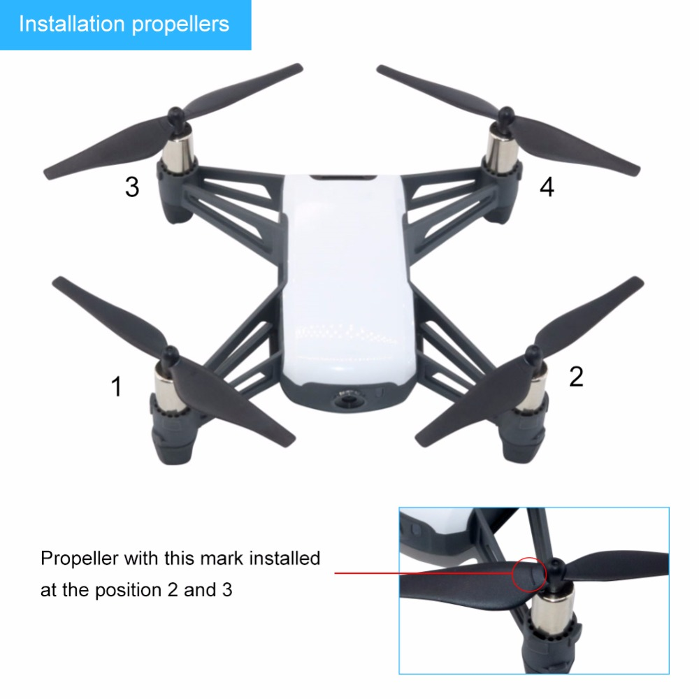 US $16 0 | Portable storage package for tello + quick release propeller  drone remote control aircraft blades for tello-in Parts & Accessories from