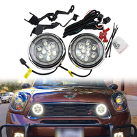 1 set Chrome Finish LED DRL with Halo Ring Daytime Running Light For MINI Cooper R55 Clubman R56 Hatch Hardtop R57 R58 Coupe
