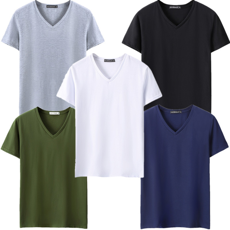 plus size 5xl 5pcs lot men t shirt v neck tee shirt homme. Black Bedroom Furniture Sets. Home Design Ideas