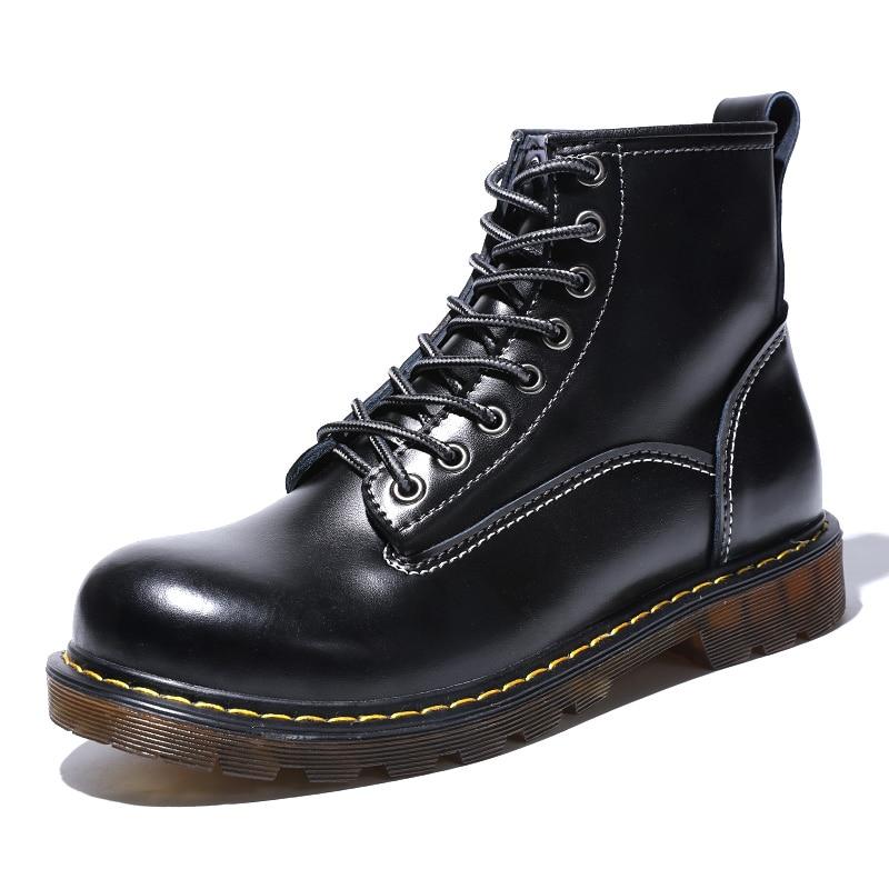 Ботинки; мужские Ботильоны; зимние кроссовки из натуральной коровьей кожи; нескользящая Водонепроницаемая Рабочая обувь - 2