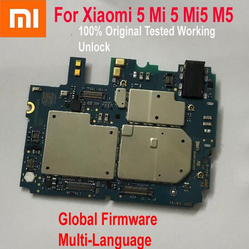 Original Xiao mi 5 mi 5 mi 5 M5 Global Firmware multi-langue débloquer carte mère carte mère Circuits logiques frais carte câble flexible