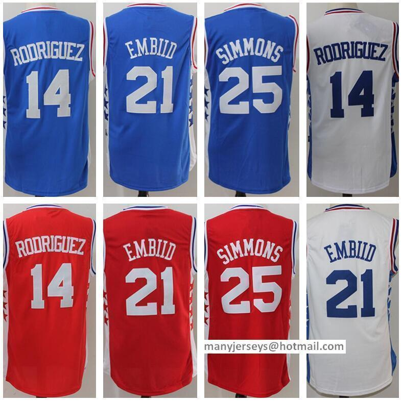 02b2aacdb ... Adidas NBA Philadelphia 76ers 14 Sergio Rodriguez New Rev30 Swingman  Throwback White Jersey Cheap Men 21 Joel Embiid Jerseys Blue White Red 14  Sergio ...