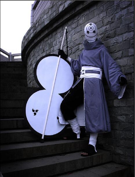 NARUTO Cosplay Akatsuki Ninja Tobi Obito Madara Uchiha Obito Costume Mask Shoes