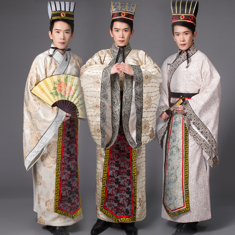 Chinese national hanfu black red ancient china costume hanfu men clothing Traditional National Tang Suit stage Cosplay Costumes in Robe Gown from Novelty Special Use