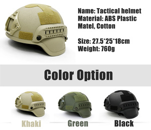 Image 3 - Quality Tactical Helmet Airsoft Gear Paintball Head Protective Face Mask Helmet with Night Vision Sport Camera Mount 3 Colors