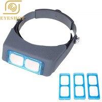 Headband Magnifier Jewelry Visor Opitcal Glass Binocular Magnifier With Lens 1.5X 2X 2.5X 3.5x Magnification, 4 Focal Length