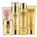 24K Perfect Skin Care Sets 5pcs Makeup Cleanser Toner Cream Lotion Foundation CC Cream Make Up Whitening Moisturizing Face Care
