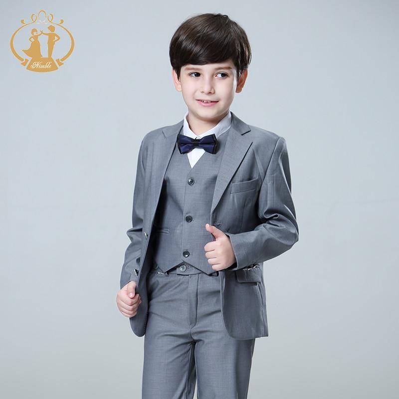 Nimble 5pcs/Set Boys Suits For Weddings Kids Prom Suits Wedding ...