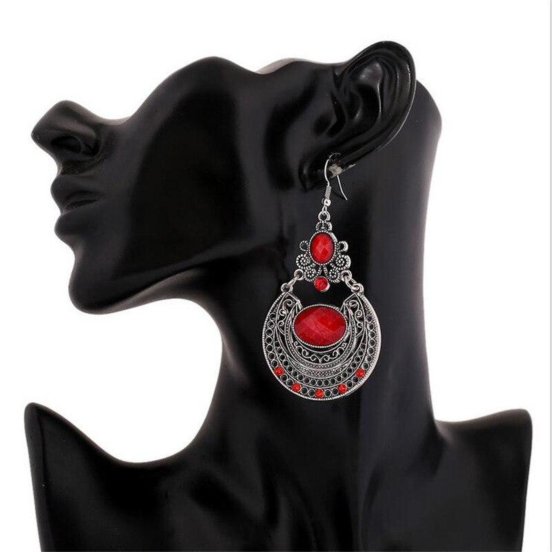 Популярные дворцовые Винтажные серьги с гравировкой новые ювелирные изделия со стразами Высокое качество подарок модный