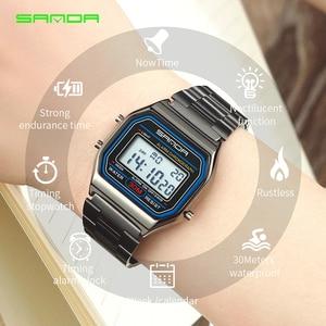 Image 2 - SANDA Mens LED Digital Watches Top Brand Luxury Fashion Waterproof Clock Wrist Watch Sports Relogio Masculino Gift for Male