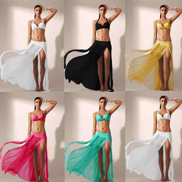 Free Shipping New Style Women beach skirt Cool Beachwear Beachwear Mesh Beachwear 5 Colors 4F4460