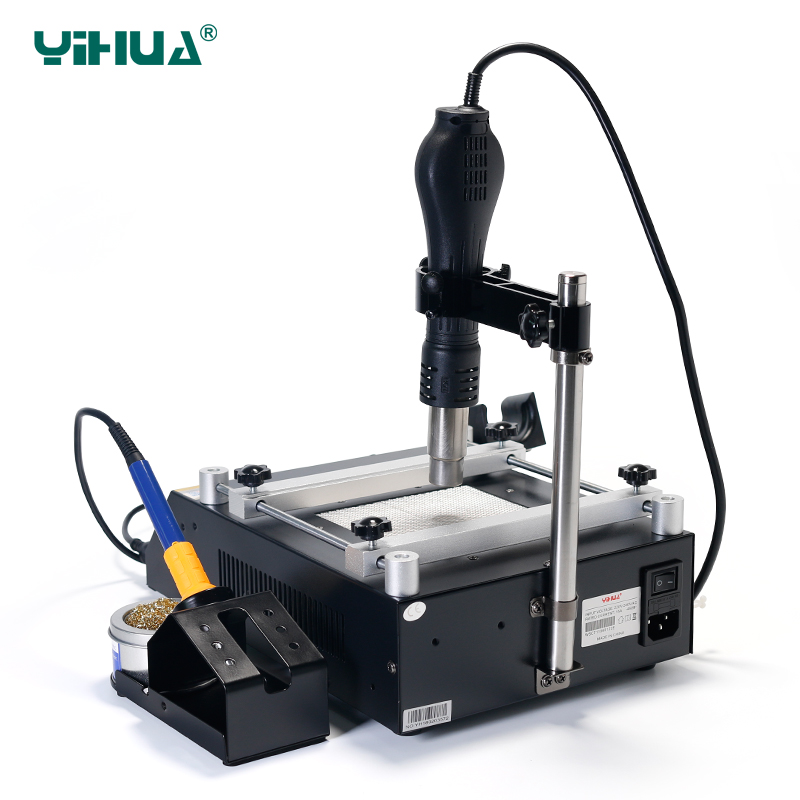Image 5 - YIHUA 853AAA 1350W Preheating Station PCB Preheater Soldering Station BGA Rework Station Soldering Iron Heat Gun Welding Station-in Soldering Stations from Tools