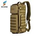 Hombres pecho Sling mochila hombres un solo hombro hombres grandes viajes militares mochilas Cruz cuerpo bolsas al aire libre mochila