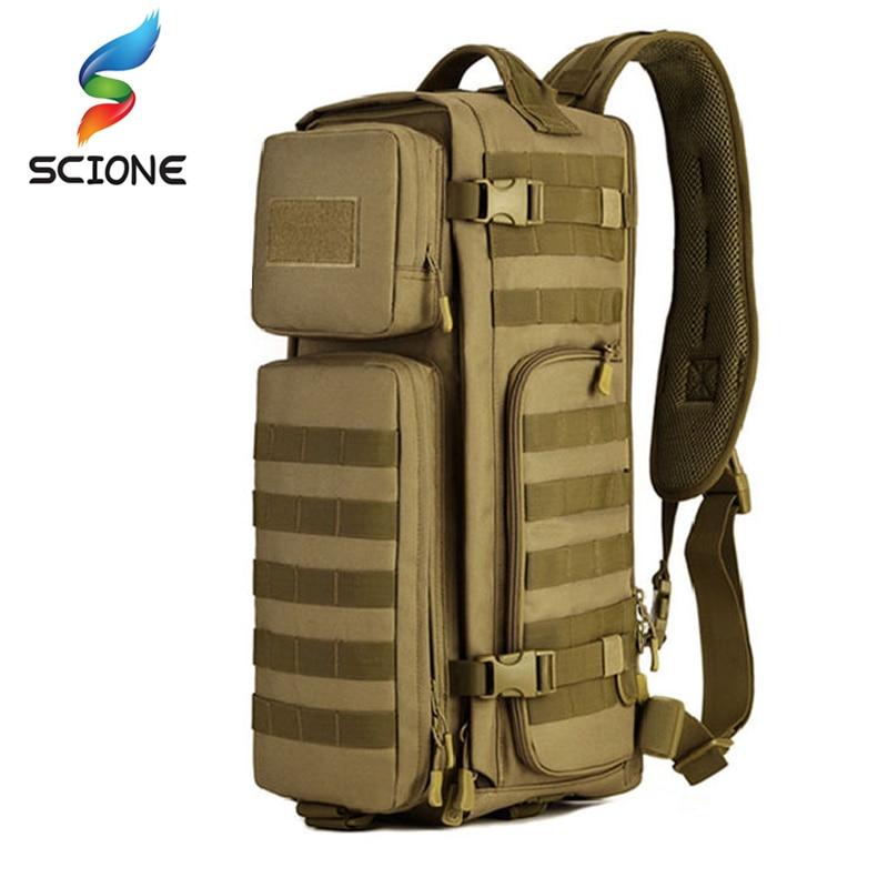 Women Men Single Shoulder Messenger Chest Bag Outdoor Travel Military Cross Body Bags Sling Rucksack Back Pack Climbing Bags Sports & Entertainment