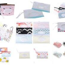 Портативная сумка для переноски влажных салфеток с героями мультфильмов, контейнер для влажной бумаги, диспенсер для салфеток, сумка-светильник с ремнем