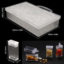 Diamond Organizing Boxes 64 Slots Transparent Plastic Jewelry Drill Acrylic Storage Box