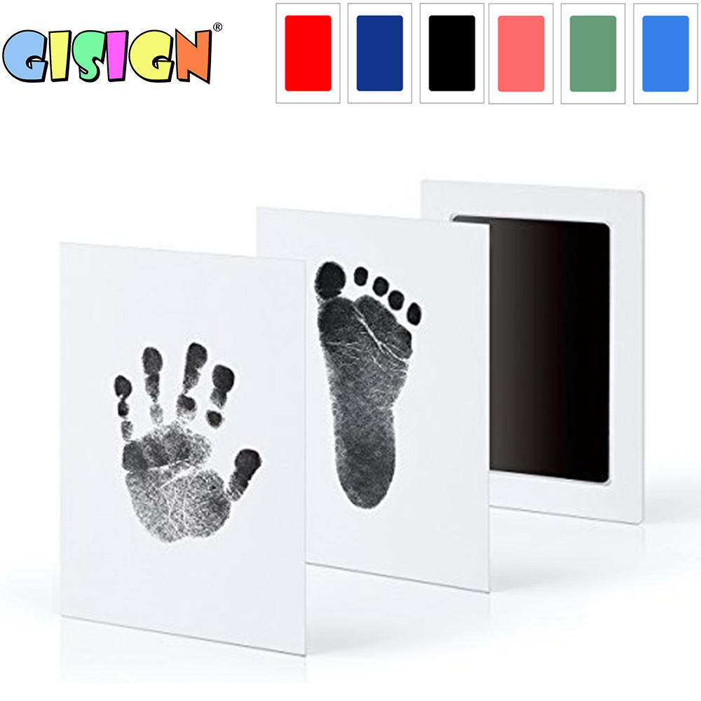 Baby Care Handprint Footprint Kit Non-Toxic Newborn Imprint Hand Inkpad Watermark Infant Souvenirs Casting Clay Toys Gift