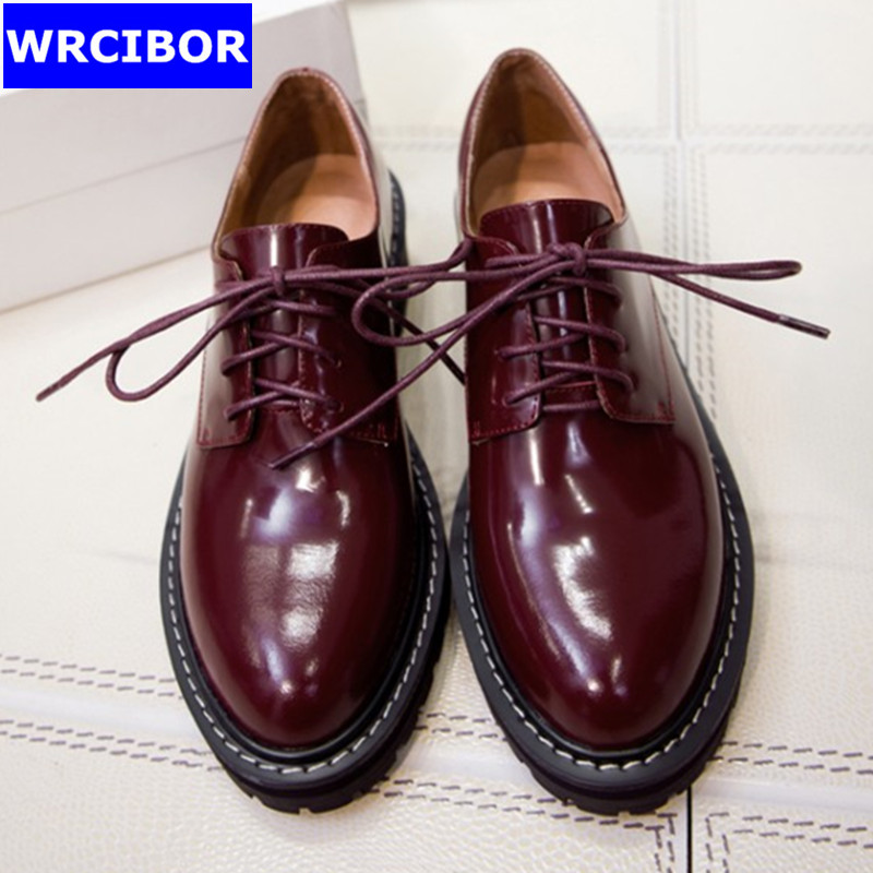 Genuine leather Oxfords Shoes Spring Vintage Tassel Platform Brogue Shoes font b Woman b font British