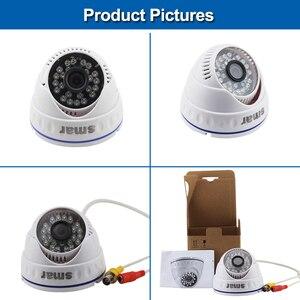 Image 4 - Sistema de videovigilancia DVR híbrido, CCTV, 4 canales, 720P, 1080P, juego de cámara AHD de día y noche, Kit de cámara domo VGA, HDMI, salida de plástico