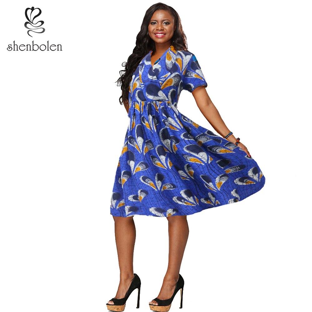 shenbolen African dresses for women 2018 summer ankara ...
