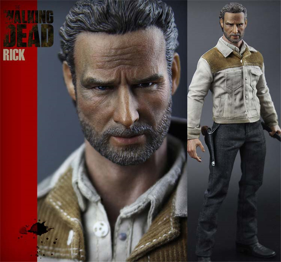 Mnotht 1:6 Solider Toy H-04 1/6 Scale The Walking Dead Season4 Rick Clothing and Weapon Set Action Figures L30 набор фигурок the walking dead 4 в 1 8 см