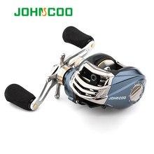 Johncoo bait casting carretel de pesca 9 + 1bb 6.3:1 sistema de freio magnético peso leve 185g multiplicador carretel de pesca carretel de alumínio