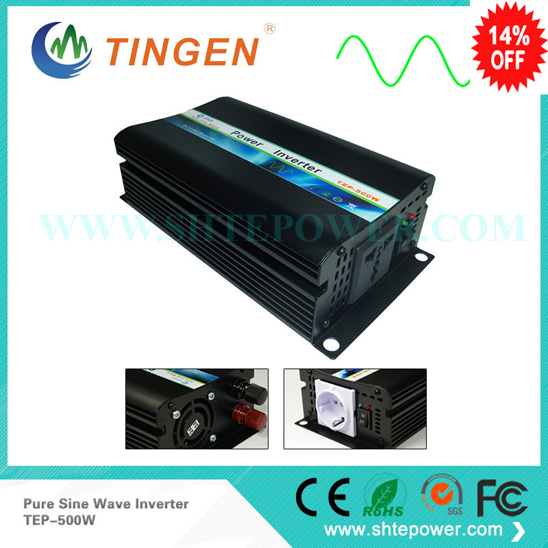 Pure sine wave power inverter 12v 24v 220v 230v 500w micro off grid system dc to ac output TEP-500W