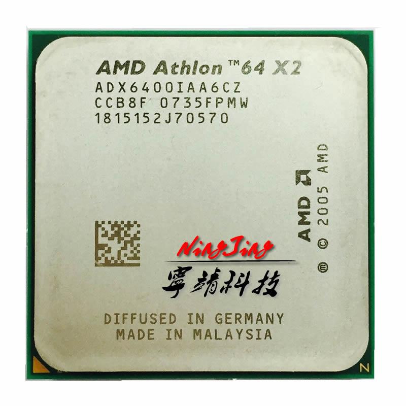 AMD Athlon 64 X2 6400 X2 6400 3 2 GHz Dual Core CPU Processor ADX6400IAA6CZ Socket