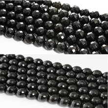 Baihande Natural Black Facet Agate Onyx Stone 6 8 10 12mm AAA 15inch Round Gemstone Loose Beads For Bracelet DIY Jewelry Making