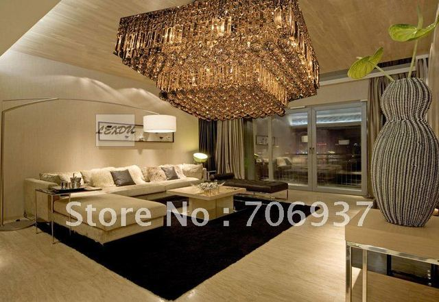 high quality modern crystal square ceiling chandelier lamp60*60cm size