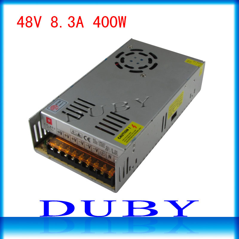 50piece/lot 48V 8.3A 400W Switching power supply Driver For LED Light Strip Display AC100-240V  Factory Supplier  Free Fedex ac 85v 265v to 20 38v 600ma power supply driver adapter for led light lamp