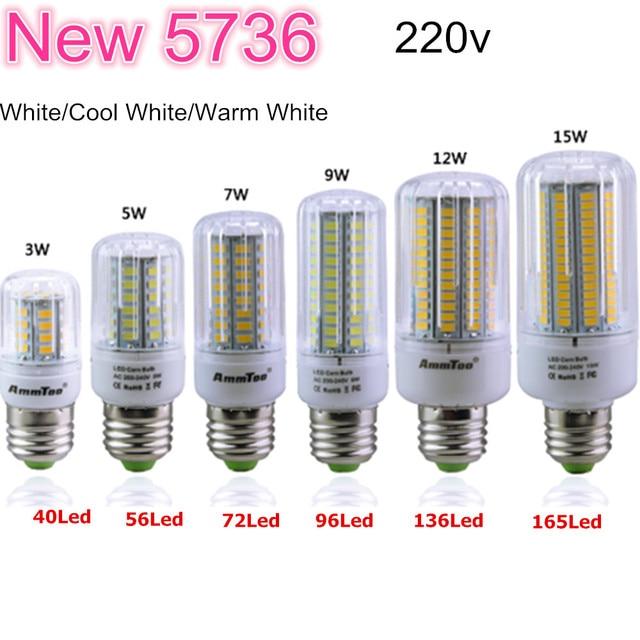 5736 SMD More Bright Than 5730 5733 LED Lamp 3W 5W 7W 9W 12W 15W 200V