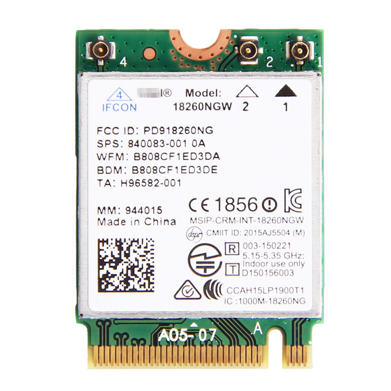 New Laptop Wlan Network For Intel 18260NGW Tri Band Wireless AC 18260 NGFF 802 11ac 867Mbps
