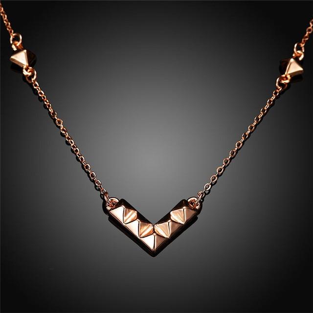 Fashion charms choker necklace female rose gold chain egyptian fashion charms choker necklace female rose gold chain egyptian pyramid pendants trendy v shape necklaces for aloadofball Choice Image