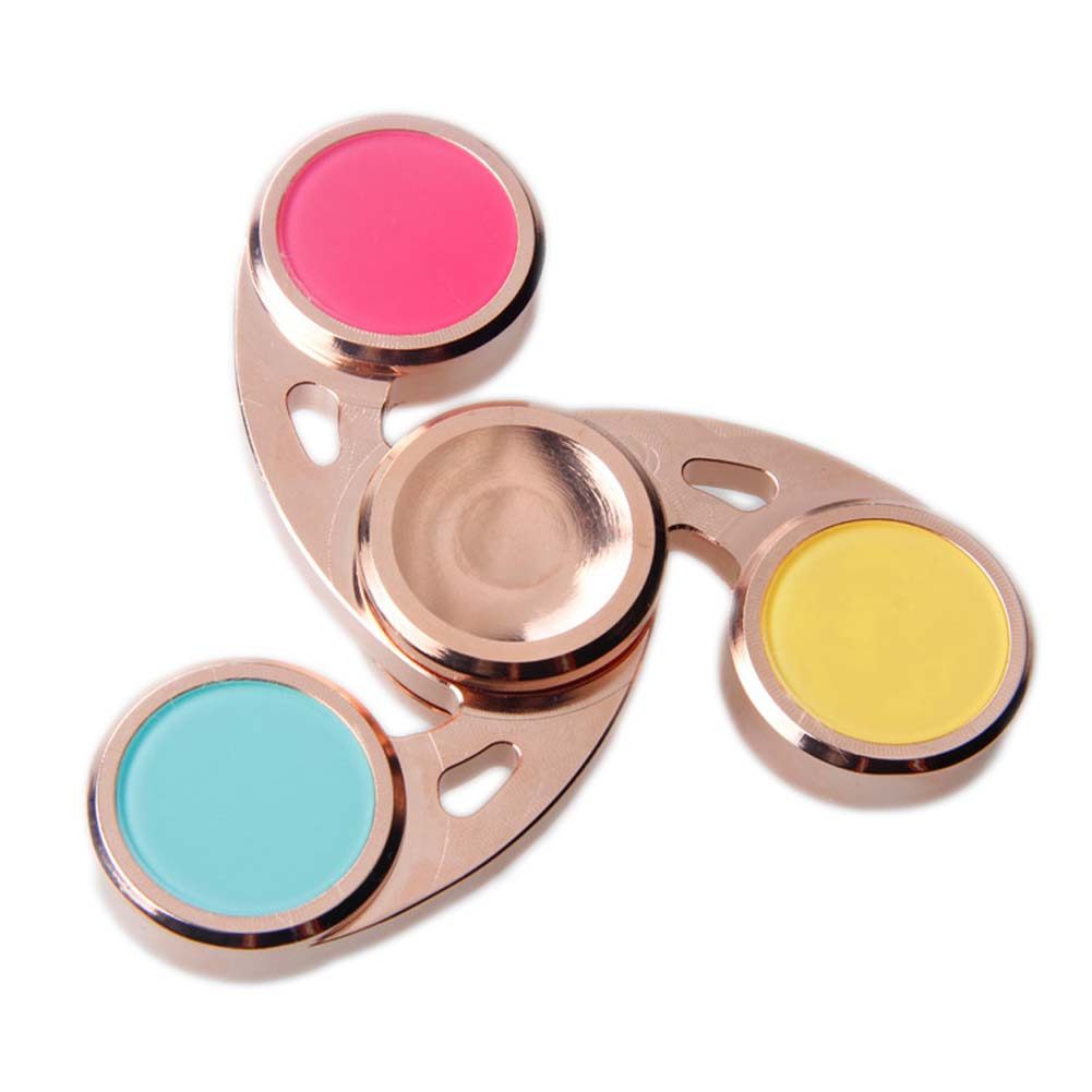 Hurricane shape Fidget Hand Toys Red Brass For Adult New Finger Spinner Hand Relieve Stress