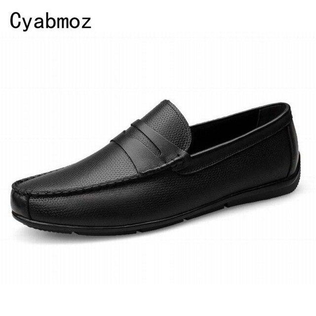 Moccasin homme Classique Confortable Respirant Moccasins 2017 Nouvelle arrivee chaussures Plus De Couleur Grande Taille SglAsRL7v
