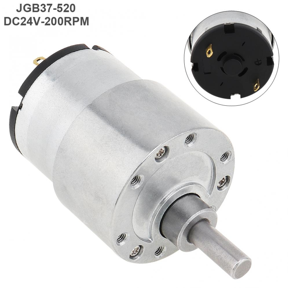 37GB-520 DC Motor 24V 200RPM Mini Reducer Motor with Metal Gear and High Torque for Smart Toilet / Robot
