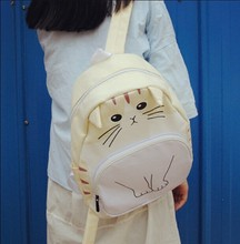 Japanese Cute Cat Ears Women Black Backpack Soft Sister Korean Ulzzang Student Kawaii School Bag Super Lovely Ladies Travel Bag